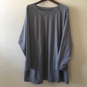 J. Jill heathered grey tunic top 4X